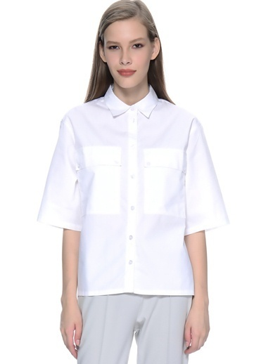 Adpt Adpt Gömlek Beyaz